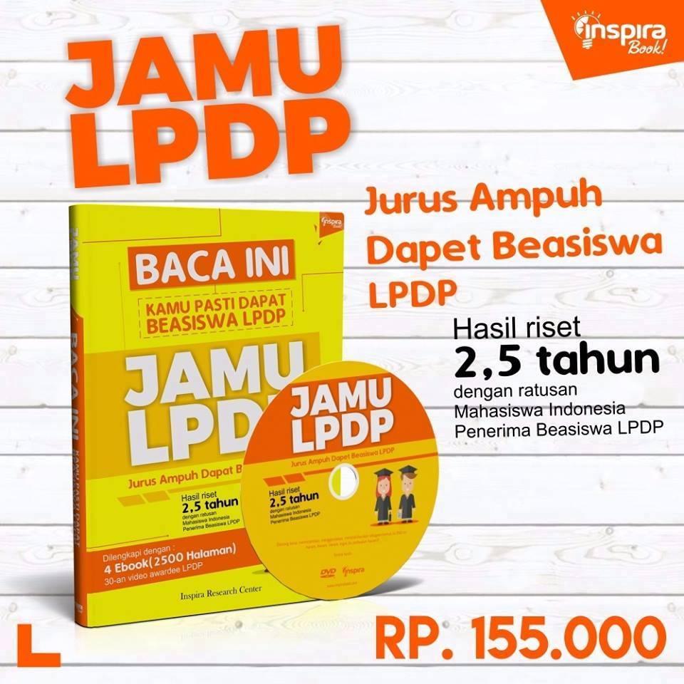 Buku Jamu LPDP, Jurus Ampuh Dapat Beasiswa LPDP